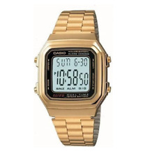 Casio Classic A178WGA-1ADF Retro Digital Gold Watch