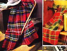 2  TARTAN TRAVELLERS RUGS 8ply or DK - COPY Afghan crochet pattern