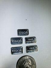 USCG  .999 FINE SILVER INGOT 5  ONE GRAM INGOTS
