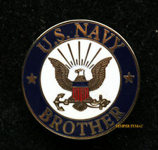 BROTHER US NAVY HAT LAPEL VEST PIN UP USS BOOT CAMP GRADUATION GIFT MOM DAD WOW