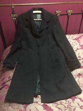 Marc Aurel Black Single Breasted Coat Size 12
