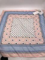 $24.50 Ann Taylor loft 100% silk scarf  pastel colors  AT2