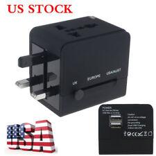 Universal Power Adapter Electric Converter US/AU/UK/EU World USB Travel Plug USA