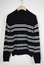 LEE CF L83HLHA Men MEDIUM Stretch Alpaca Blend Striped Pullover Sweater 30379_GS
