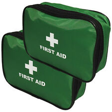 Qualicare Large Zip Top Empty First Aid Supplies Kit Bag Pouch Twin Pack