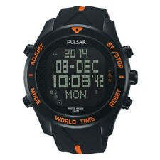 PNP PQ2037X1 Pulsar Gents Digital Chronograph Resin Strap Watch