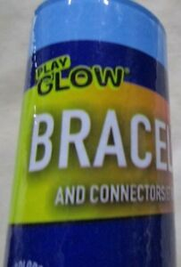 "Play Glow Bracelets & Connectors 20 Pieces 8""  Ages 3+ Birthdays Parties"