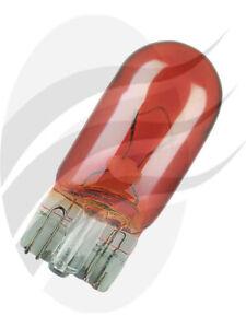 Osram Amber Wedge Globe 12V 5W W2.1X9.5D [ref Narva 47510BL] Pack 2 (2827-02B)