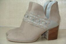 NEW Nine West Danbia Womens 6 M Tan Brushed Leather Harness Ankle Boots Booties