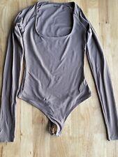 ALIX NYC Sullivan Bodysuit Taupe Long Sleeve Size XS