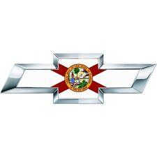 2 Silverado Florida State Flag Universal Chevy Bowtie Vinyl Sheet Emblem Overlay