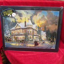"""New 550 Piece Puzzle """"Christmas At Great Grandpa's"""" Glow in Dark"""