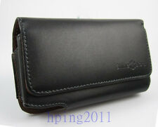 New Leather Belt Clip Carrying Case for Samsung Galaxy Note 2 Note 3 I9220 N7000