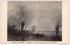 Musée de Reims - Corot - La pêche en barque auprès des saules