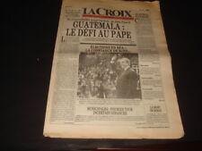 TINTIN JOURNAL LA CROIX JOUR DE LA MORT D' HERGE 5 MARS 1983