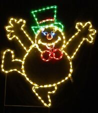 Christmas Frosty the Snowman Outdoor LED Lighted Decoration Steel Wireframe