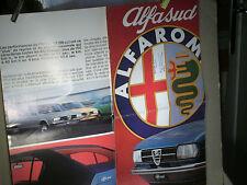 DEPLIANT/AFFICHE  ALFA ROMEO ALFASUD 1ERE GENERATION