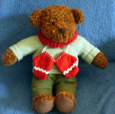 "HALLMARK~13"" Plush WINTER TEDDY BEAR~Scarf & Mittens"