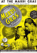 "MARGI GRAS Sheet Music ""At The Mardi Gras"" Betty Rhodes Johnnie Johnston"