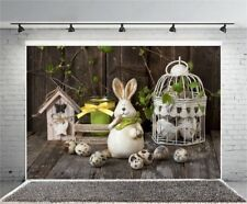 Easter Rabbit Eggs Cage 7x5ft Photography Background Vinyl Photo Backdrop Props