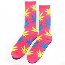 HUF Marijuana Leaf PLANTLIFE Lime-White or Neon Pink Color Socks 1-PAIR WEED