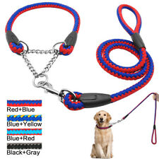 Martingale Large Dog Choke Collar and Lead Braided Rope Heavy Duty for Training