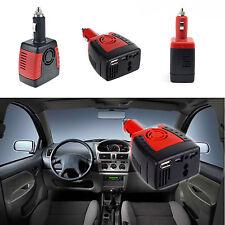 AC Outlet + USB Port DC 12V To 110V/220V Car Inverter Power Adapter Charger Red