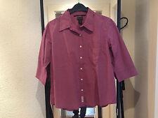 Abercrombie & Fitch camisa talla L rojo a cuadros