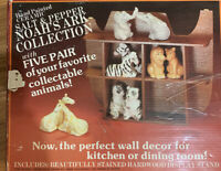 Vintage 1987 Emson Noah's Ark w/ 5 Salt & Pepper Shakers & Wall Display Ark.
