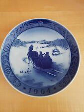 Royal Copenhagen Porcelain Christmas Plate 1964 Fetching The Tree By Kai Lange