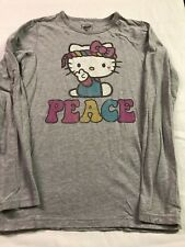 Old Navy Girls XL 14 Collectabilitees Long Sleeve Hello Kitty Hippie Peace Shirt