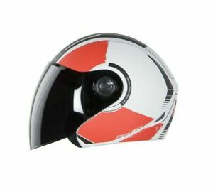 SB-43 Yo Yo Sport Mat White & Red With Plain Visor Open Face M Size 580 mm