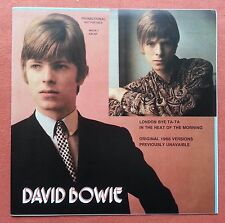 DAVID BOWIE-LONDON BY TA-TA ITALY PROMO NUMBERED 7'' PS 1984 UNOFFICIAL BLUE