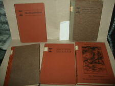 5 Büchlein aus Schulbücherei ca.1910,div.Literatur,Die Niebelungen,Undine,u.a.