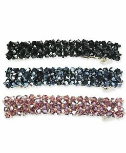 INC International Concepts Silver-Tone 3-Pc. Set Sparkle Bead Hair Barrettes