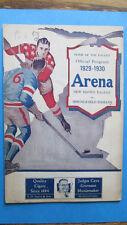 1929-30 NEW HAVEN EAGLES vs SPRINGFIELD INDIANS AHL HOCKEY Game PROGRAM VG RARE!