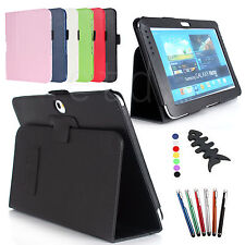 New Luxury Pu Leather Cover Case Stand for Samsung Galaxy Note 10.1 N8000 Table