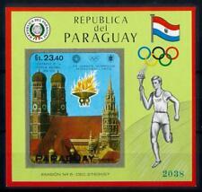 [72482] Paraguay 1970 Olympic Games Munich Church Imperf. Sheet MNH