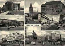 BOCHUM Mehrbild-AK ~1950/60 Bahnhof, Schauspielhaus, Bongardsstrasse uvm. s/w AK