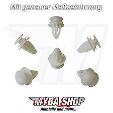 10x KLIPS acolchado clips para Opel Astra meriva 149910 ford 9032112 en blanco #neu #