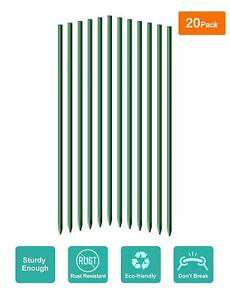 """Ecostake 5/16""""x6' 20 Pack Garden Plant Tomato Stakes Poles Stalks Plants Support"""