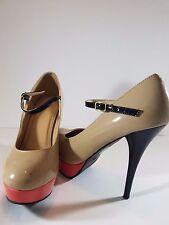 Mossimo Women's Tan / Black Stiletto Platform Heels Size 10