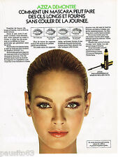 PUBLICITE ADVERTISING 055 1981  AZIZA   maquillage des yeux