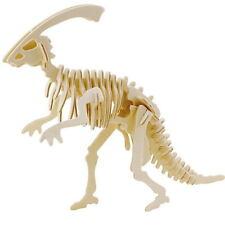 3D Wooden Puzzle Parasaurolophus Woodcraft Construction Kit Educational Dinosaur