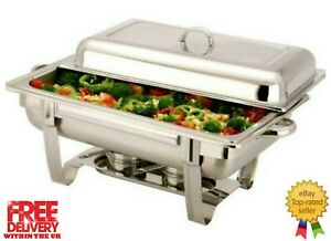 Vinod SINGLE COMPARTMENT 8.5 L  Chafing BUFFET DISH / PARTY FOOD WARMER.