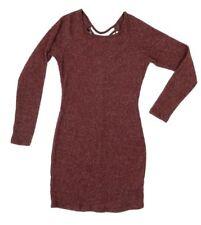 20a8de305b6 Charlotte Russe Soft Sweater Dress Womens Size S Purple Ribbed Long Sleeve  Thin