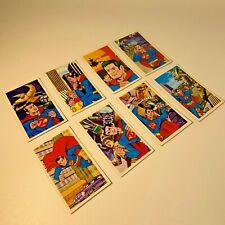 Vintage Japanese Superman Z menko cards  8-piece set