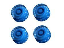 Set of 4 Blue Speed Knob Gibson Epiphone Style - Set de botones azules Les Paul