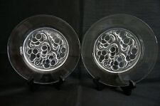 "LALIQUE French Crystal ""MARIENTHAL"" Lunch Plates Set of 2 - 9 1/2"" Diameter"