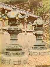 Japon, Bronze Lantern Nikko Vintage albumen print, Japan Tirage albuminé a